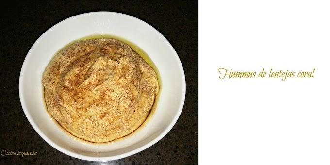 Hummus de lentejas coral