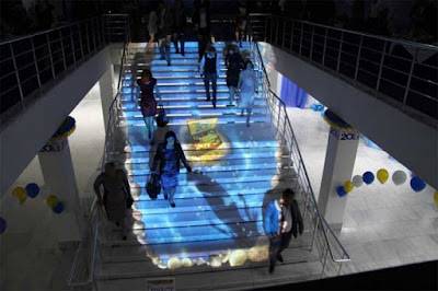 interactive floor projector for stunning stairs and staircases live system