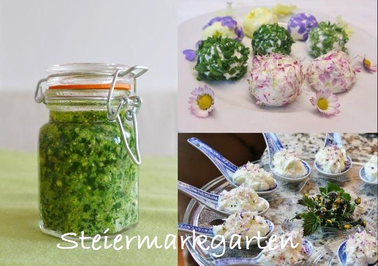 Collage-Wildkräuterrezepte-Steiemarkgarten