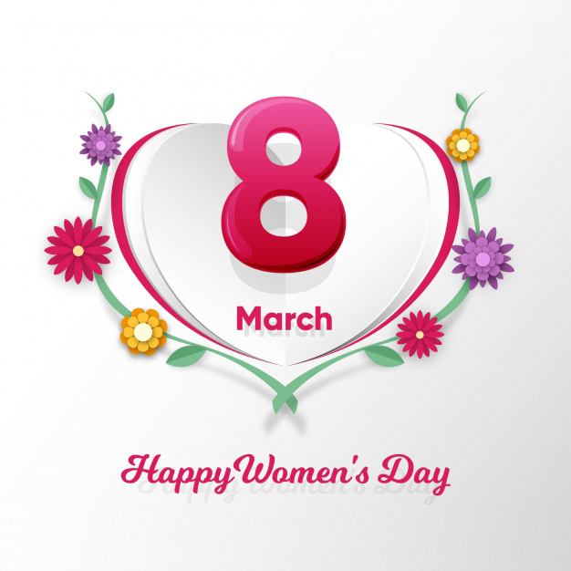 Flat women's day background Free Vector