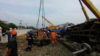 Pagi Ini 4 Kereta Penumpang Terlambat, Evakuasi Kereta Terguling Dikebut