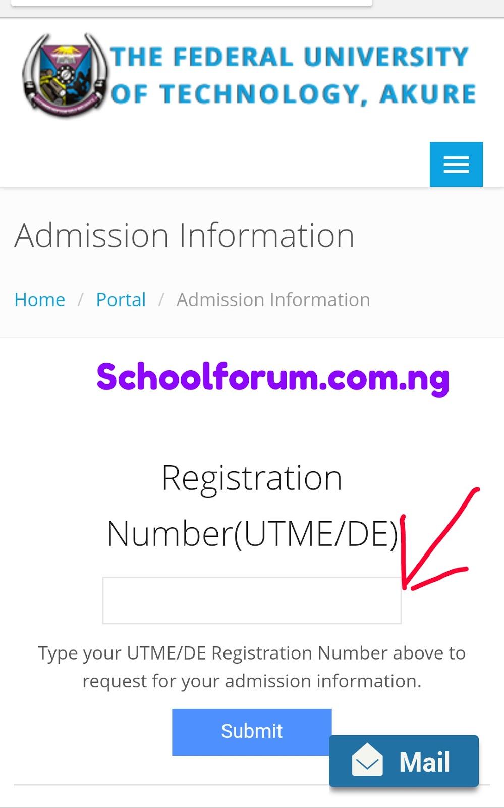 Futa admission list 2017