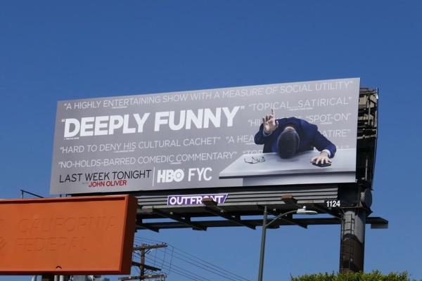 John Oliver 2018 Emmy FYC billboard