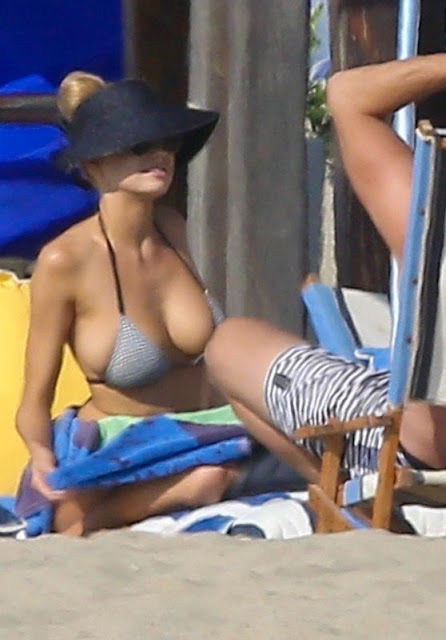 Charlotte McKinney in Bikini at Beach With Sister Garland McKinney in Santa Monica