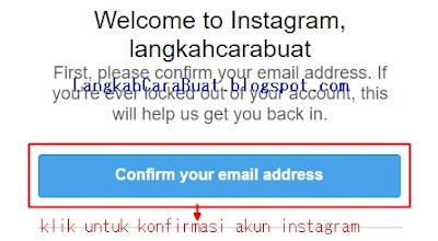 cara registrasi instagram