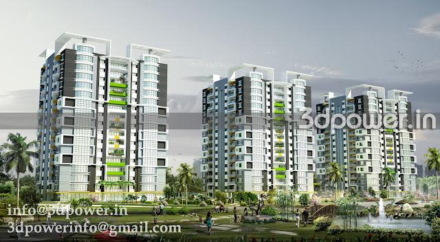 3d animation 3d rendering 3d walkthrough 3d interior for Terrace elevation designs