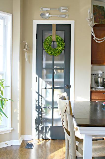 black glass pantry door