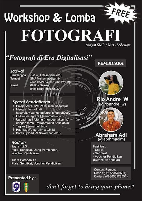 Info Workshop dan Lomba Fotografi SMA Muhammadiyah 9 Surabaya