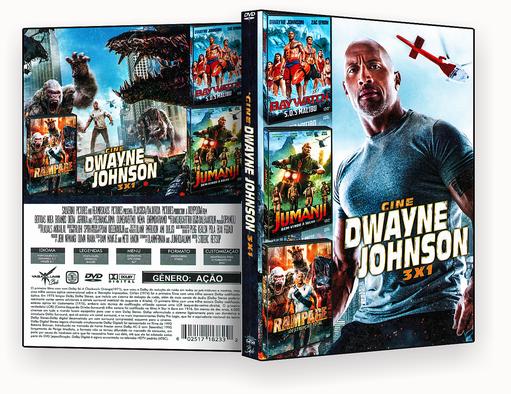 CAPA DVD – Cine Dwayne Johnson 3 Em 1 – ISO