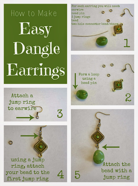 How to Make Easy Dangle Earrings