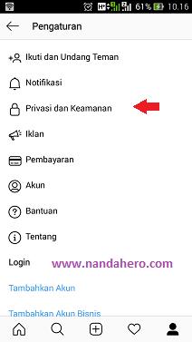 Cara Mengubah PasswordKata Sandi Instagram Versi Baru di Android