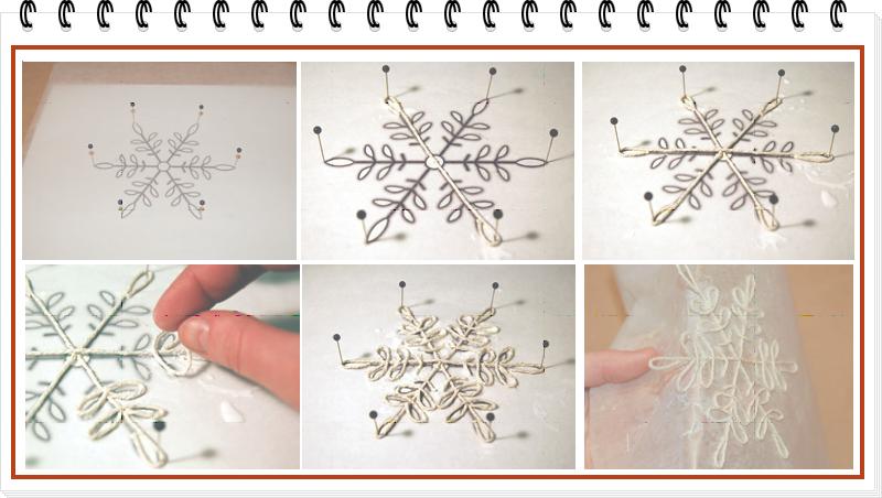 Como hacer un Copo de Nieve Snowflake de Cuerda