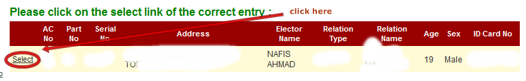 Voter id card cahnge name