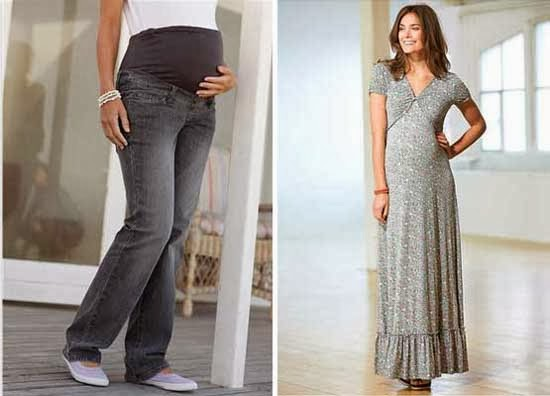 Maternity jeans | Maternity maxi dress from Bon Prix