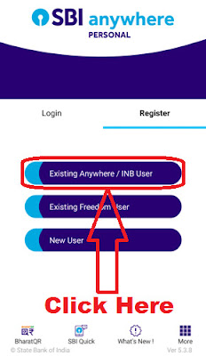 how to register with sbi anywhere app