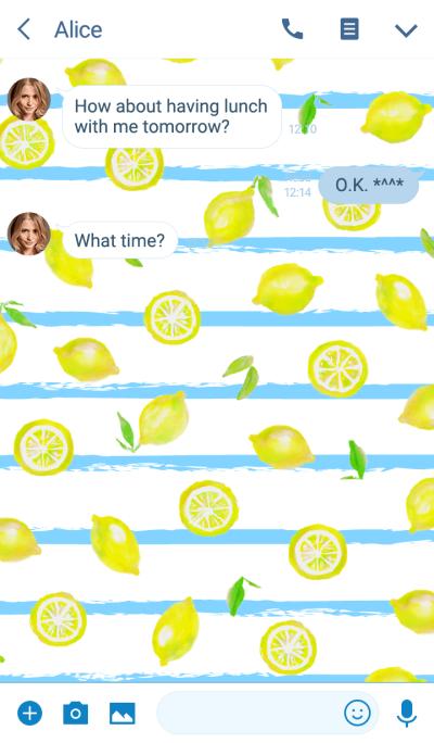 성인 수채화 : 레몬 스트라이프 WV
