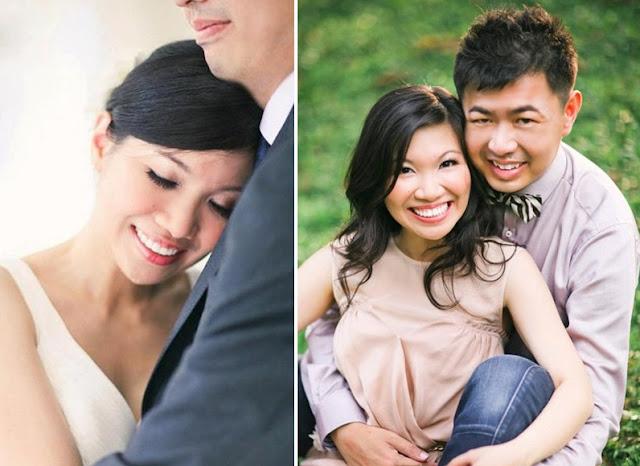 comforting hug pre wedding sit on lawn
