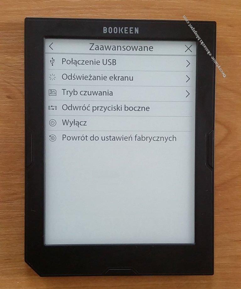 menu kontestowe ustawień zaawansowanych