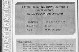 SOAL TPM MATEMATIKA KABUPATEN SLEMAN 2015 (Paket 11-15)