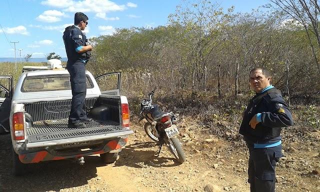 Policia militar de Mucambo recupera moto tomada de assalto.
