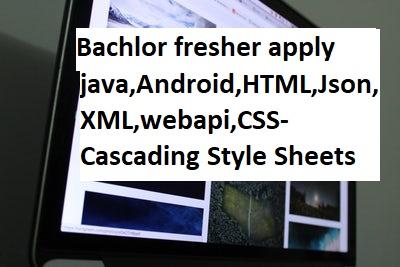 Key Skill : java,Android,HTML,Json,XML,webapi,CSS-Cascading Style Sheets
