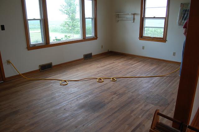 Living Room Beginning The Sanding