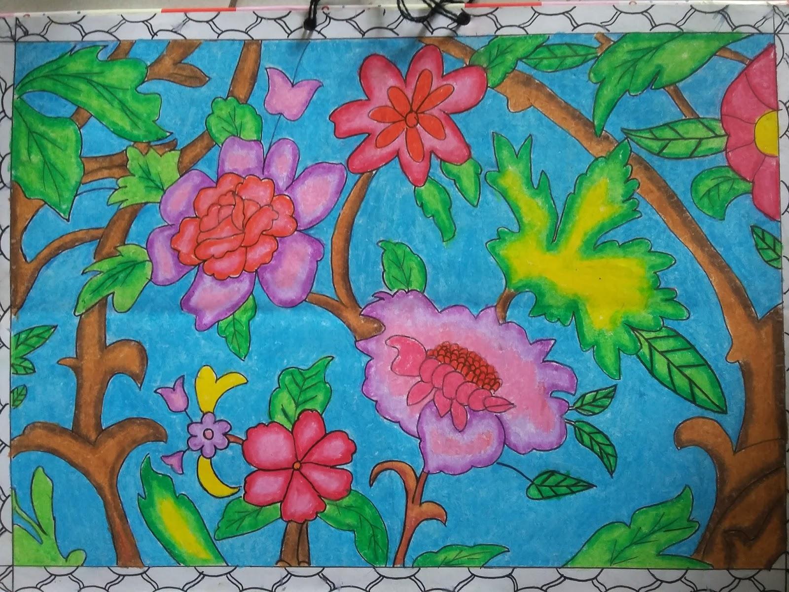 Contoh gambar ragam hias flora :