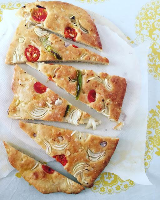 Focaccia {pan De Pizza Italiano}