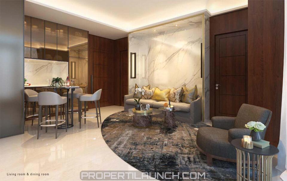 Apartemen Permata Hijau Suites 2 BR