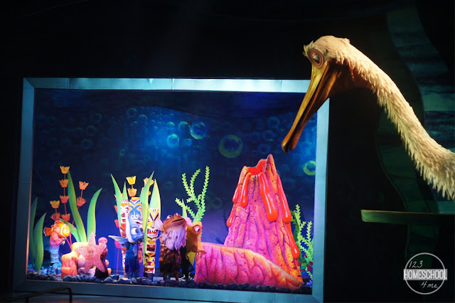 Finding Nemo the Musical show at Disney World Animal Kingdom is amazing