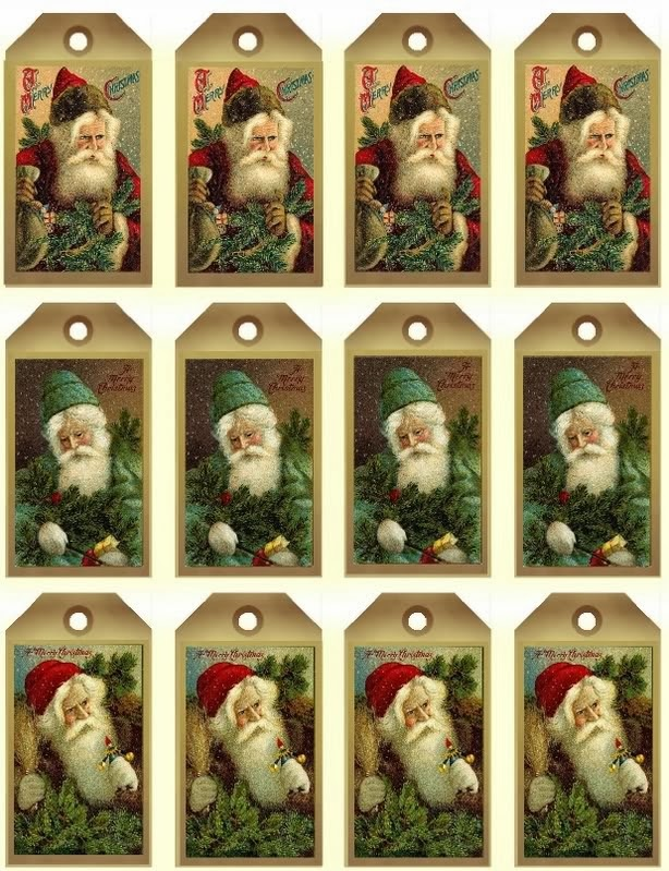 This is a graphic of Insane Vintage Christmas Labels to Print