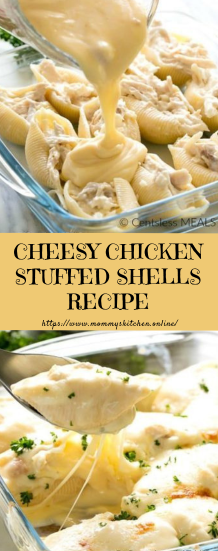 CHEESY CHICKEN STUFFED SHELLS RECIPE #dinner #easyrecipe