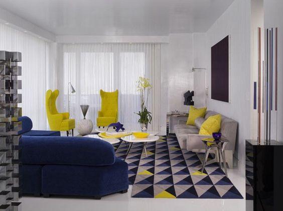 M3T - Decoração - Inspirações de Azul com Amarelo