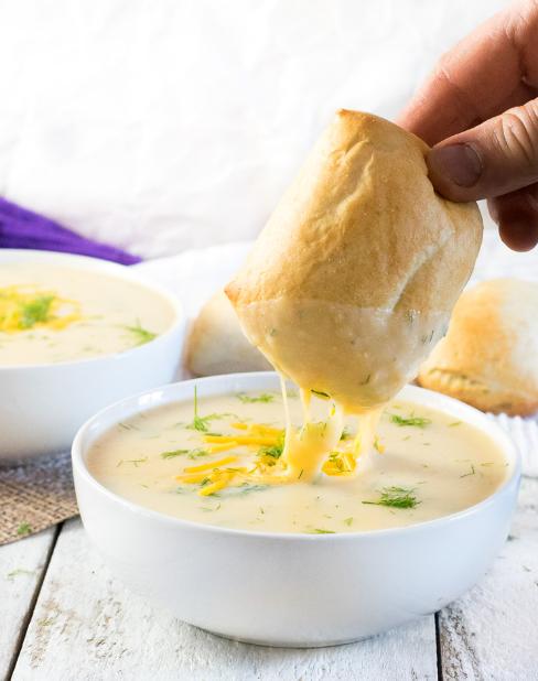 Cheesy Potato Dill Soup