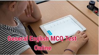MCQ Type General English Online Test for Competitive Exams