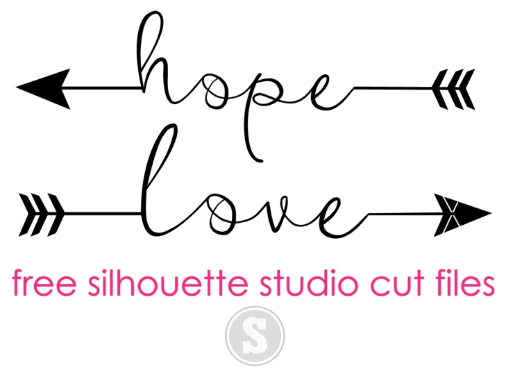 Silhouette studio free cut files cut files hope and love arrows