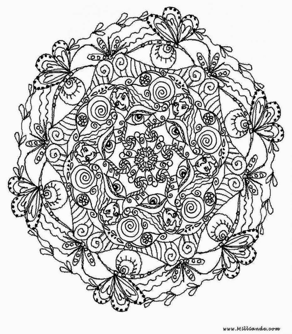 large coloring pages for adults - photo#20