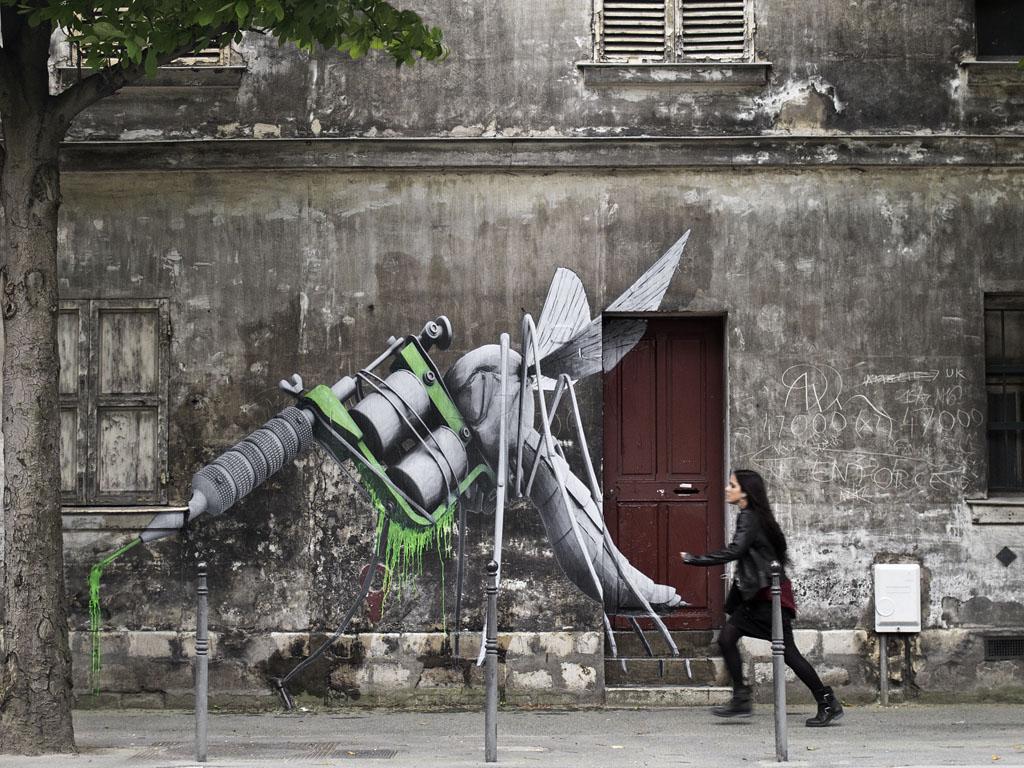 ludo new street piece in paris france streetartnews streetartnews. Black Bedroom Furniture Sets. Home Design Ideas