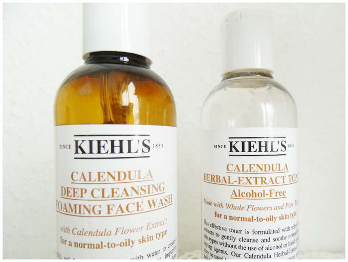 my skincare routine | kiehl's | more details on my blog http://junegold.blogspot.de | life & style diary from hamburg | #beauty #skincare #kiehls #calendula #rareearthdeepcleansingmask