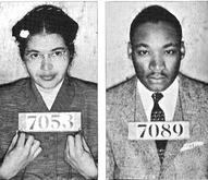 Rosa Parks & Martin Luther King  Montgomery Bus Boycott Mugshots