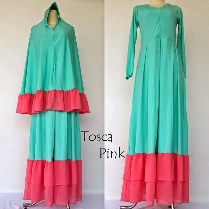 model baju long dress modern