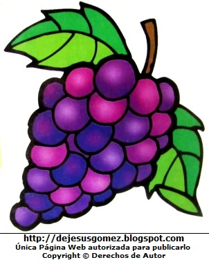 Dibujo de uva a color para niños por Jesus Gómez