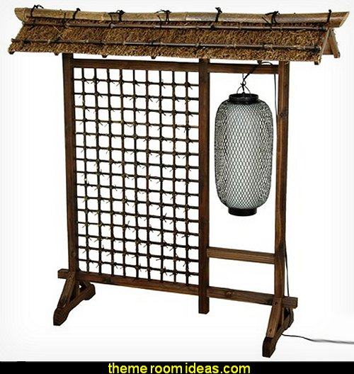 Bamboo Lantern Room Divider oriental theme bedroom furniture asian theme bedroom decorating