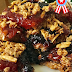 Red and Blue Oatmeal Squares #TasteCreations