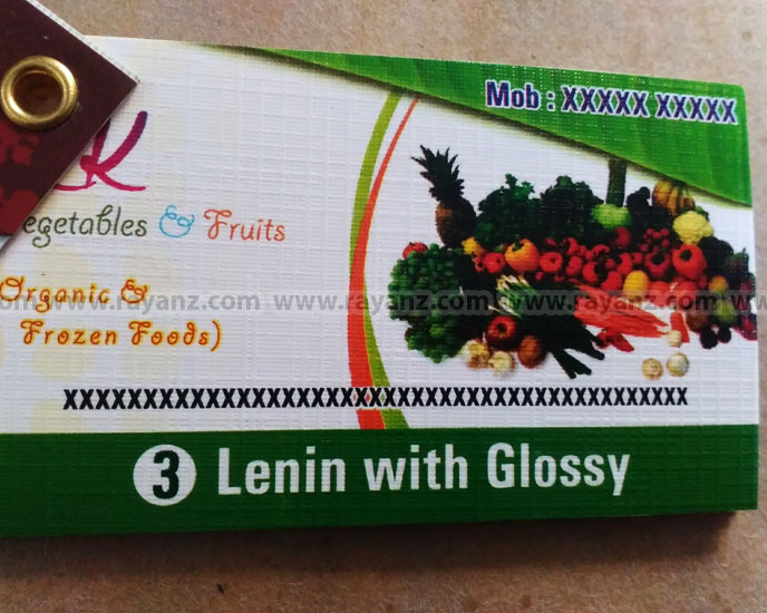 Lenin with glossy finish business cards printing in Chennai