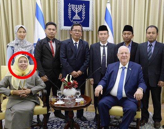 Foto Pejabat MUI Bersama Presiden Israel Rivlin