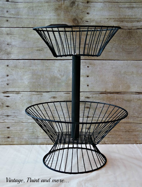 finished standing two tier wire basket