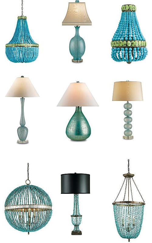 Turquoise Lighting: Chandeliers, Lamps and Wall Sconces ...
