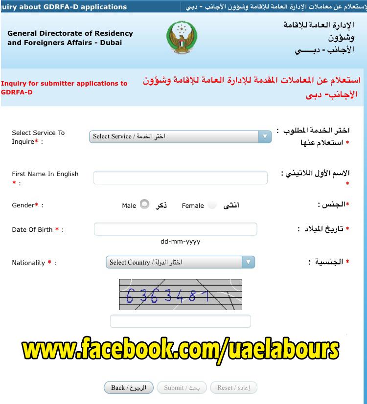Dubai visit visa status