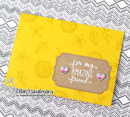 Custom Envelope Card by Ellen Haxelmans | Lovely Blooms and Simply Sentimental Stamp Sets by Newton's Nook Designs #newtonsnook